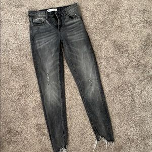 Grey faded skinny jeans